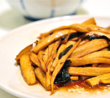 金鉤炒筍片